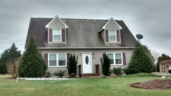 Roof Cleaning In Progress Chestertown Maryland