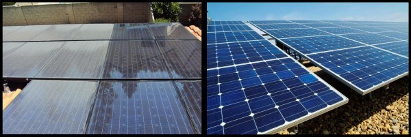 Solar panel cleaning saves energy.